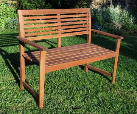 Malmo 2 Seat Hardwood Garden Bench 1/2 Price Sale Now On Your Price Furniture